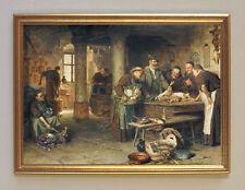 Grützner In der Klosterküche Büttenfaksimile von Ölgemälde 1 im Goldrahmen