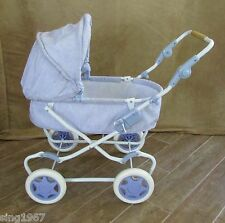 Pram Bitty Baby Carriage retired American Girl doll folds Purple stroller