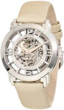 Stuhrling 156 121S2 Women's Winchester Automatic Skeleton Beige Leather Watch