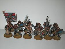 Warhammer 40K Imperial Guard metal OOP Cadian Command Squad models x12