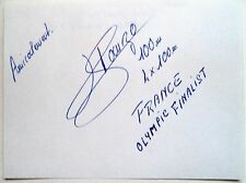 Hermann Panzo olympique 1980 4x100m médaille de bronze winner-original encre autographe
