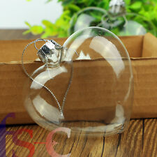 Valentine's Day12pcs Heart Shape Clear Glass Bauble Wedding Hanging Ornament