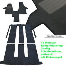 AKTION Velour Fußmatten Komplettauslage für VW T5 Multivan 2 ab Bj.2003 - 2015