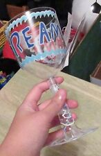 """Decorative Plasticware, """"DREAM ON"""", Plastic Wine Glass, SAFE TO DRINK FROM&WASH"""