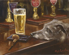 Poacher's Ale by Mick Cawston. Lurcher beer  Open edition print
