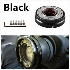 Black Thin Version Racing Car Quick Release Adapter Steering Wheel Hub Boss Kit