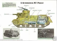 Self-propelled Automoteur M 7 Priest Continental USA WWII 1942-1945 CHAR TANK