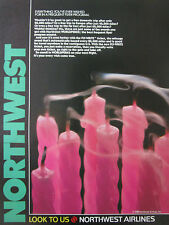 5/1989 PUB NORTHWEST AIRLINES BOUGIE CANDLE WORLDPERKS FLY-WRITE ORIGINAL AD