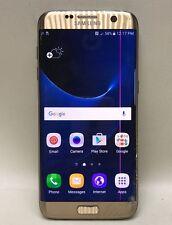 AT&T Samsung Galaxy S7 Edge Gold Cracked Bad ESN