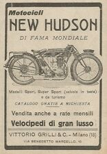 Z2100 NEW HUDSON motocicli di fama mondiale - Pubblicità d'epoca - Advertising