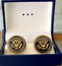 PRESIDENTIAL SERVICE BADGE CUFFLINKS/MILITARY OFFICE~WHITE HOUSE~GIFT BOXED