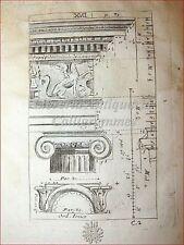 ARCHITETTURA: Raccolta di 50 Tavole del '700 Incisioni Colonne Porte Monumenti