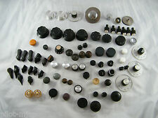 LOT OF 80 ~ VINTAGE ~  RADIO / ELECTRONIC CONTROL KNOBS ~  METAL, PLASTIC, WOOD