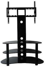 "Corner TV Stand With Bracket 32""- 55"" Flat Screen Black Glass Cantilever TV unit"