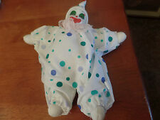"""Magical Expressions White Porcelain Clown Doll-10"""" To Tip of Hat  #1355"""