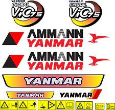 YANMAR VIO 75 BAGGER-AUFKLEBER-SATZ