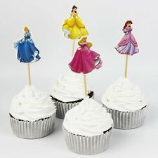 24 Pcs, Princess Cupcake Toppers Kids Birthday Party Supplies.