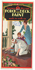 1930s Advertising Brochure Sherwin Williams Porch and Deck Paint w/ Samples