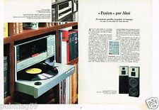 Publicité advertising 1983 (2 pages) Chaine Hi-Fi Akai