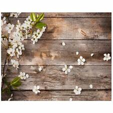 5x3FT Wood Wall Flower Vinyl Photography Backdrop Background Photo Studio Props