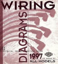 1997 Harley Wiring Diagram Schematic Electrical Troubleshooting Manual ALL 48-97
