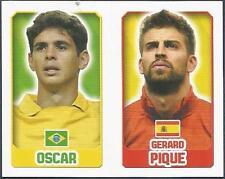 TOPPS ENGLAND 2014- #040-080-BRAZIL-OSCAR-SPAIN-GERARD PIQUE