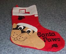 Brand New Design Santa Paws Dog Christmas Stocking For Dog Rescue Charity