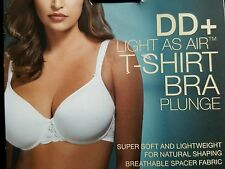 "NEW M&S DD+  ""LIGHT AS AIR"" T-SHIRT PLUNGE  BRA 32G - WHITE"