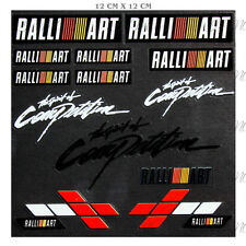 RALLIART Reflective Car Sticker Windshield Window Vinyl Decal Set for Mitsubishi
