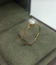 9ct yellow gold solitaire engagement ring