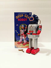 BRAND NEW QSN MS 401 MECHANICAL DEEP-SEA TIN ROBOT WIND UP MINT