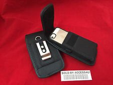 VERTICAL HEAVY DUTY NYLON BELT CLIP POUCH FOR IPHONE 4 4S SLIM TPU BUMPER CASE