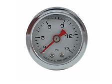 Liquid Filled Oil Pressure Gauge 0-15 psi - WHITE face -Harley Davidson