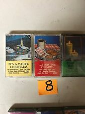 (3) NEW SEALED Assorted Christmas Music Cassette Tapes  (G) (8)
