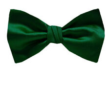 Solid Mens Hunter Green Classic Pre-Tied Bow Tie Proms Weddings