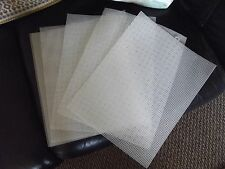 6 Sheets of  Plastic Canvas #7 Mesh 10 1/2 x 13 1/2 in. Clear