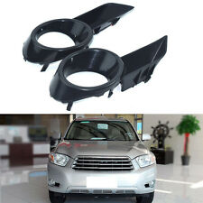 1Pair Cover Front Fog Bumper Lamp Light For Toyota Highlander 2007-2010