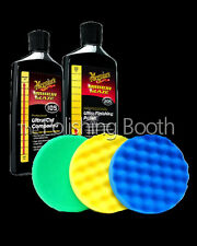 Meguiars M105 Compound & M205 Finishing Polish 16OZ 3M 150mm Pad Kit