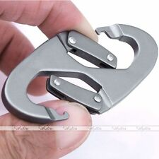 8 Shape Double Gate Carabiner Snap Clip Hook Clasp Camping Bottle Scouts Buckle