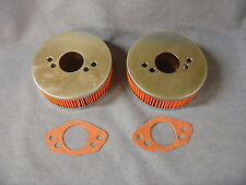 NEW TRIUMPH SPITFIRE MG MIDGET 1500 PAIR OF AIR FILTERS AND GASKETS