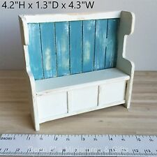 Dollhouse miniature Furniture 1:12 Coastal Style Settle Bench NEW