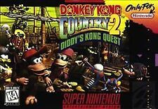 Donkey Kong Country 2 Diddy's Kong Quest SNES  Game Only Free Shipping+Tracking