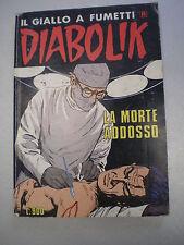 """DIABOLIK R PRIMA RISTAMPA SERIE BIANCA N. 86 """"La morte addosso"""", 1986"""