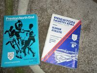 PRESTON NORTH END PNE HOME PROGRAMMES 1968 - 70 - SELECT FROM LIST
