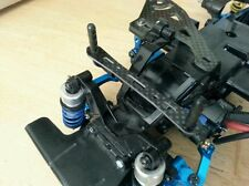 TAMIYA M03 M06 FRONT & REAR CARBON BODY MOUNT SUPPORT 2 PCS MO3001