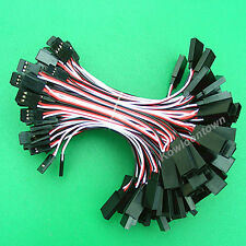 100 x 10cm Servo Extension Cord Lead Wire Cable-Helicopter Airplane Car Truck
