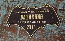 CUSTOM 2016 BATARANG DISPLAY PLACARD BATMAN DAWN OF JUSTICE SUPERMAN