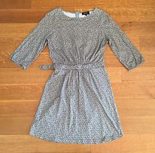 A.P.C. Paris blue Yellow Green cotton Floral Print Belted dress sz Small