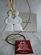 1974 Haviland Prolongeau Christmas Ornament Caroling Angels Vintage