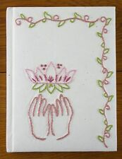 Handmade Journal Lotus Embroidery Jenny Hart Sublime Stitching Yoga Diary Eco